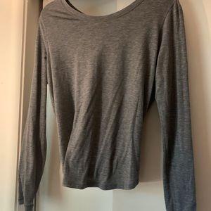 Lululemon wild twist long sleeve   gray   size 8